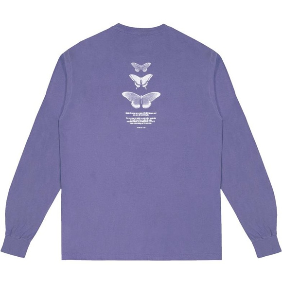 233f229a7404 halsey Tops   New Lavender Butterfly Long Sleeve Tshirt   Poshmark